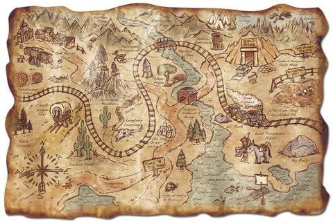 Old West Treasure Map